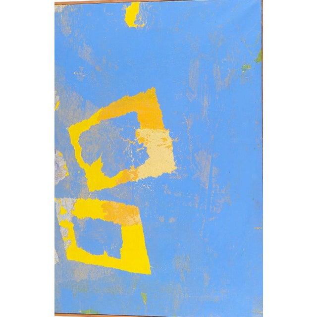 "Fernando Texidor Mid-Century Abstract ""Metamorphosis"" Painting For Sale - Image 4 of 7"
