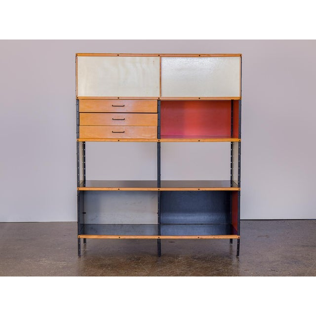 First edition ESU 400 C Storage Unit by Charles & Ray Eames for Herman Miller. Inspired by industrial warehouse shelving,...