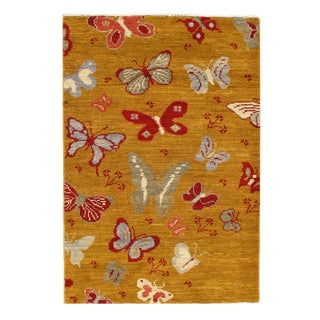 "Pasargad Modern Butterfly Kaleidoscope Rug- 3' X 4'4"" For Sale"