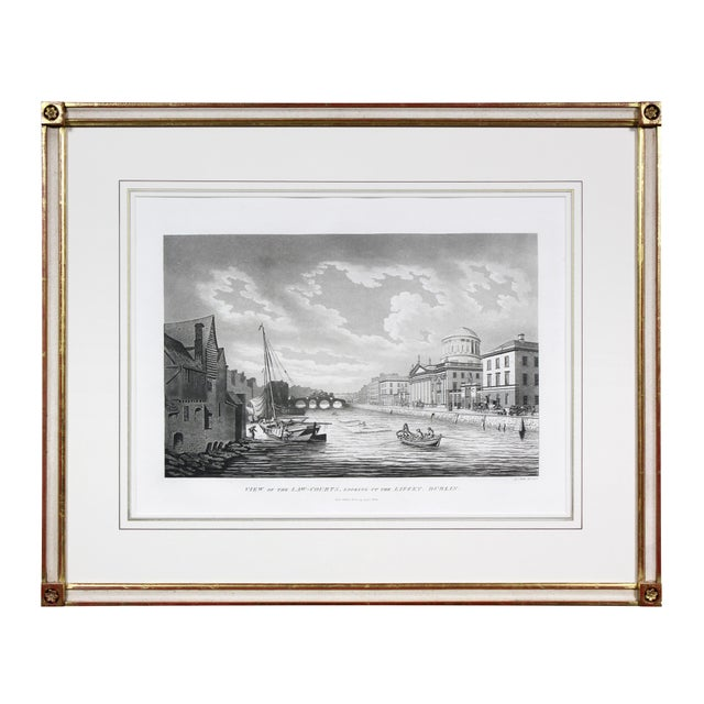 In glazed water gilt frames with creme color featuring the following views; Barracks Dublin, Great Court Yard, Royal...