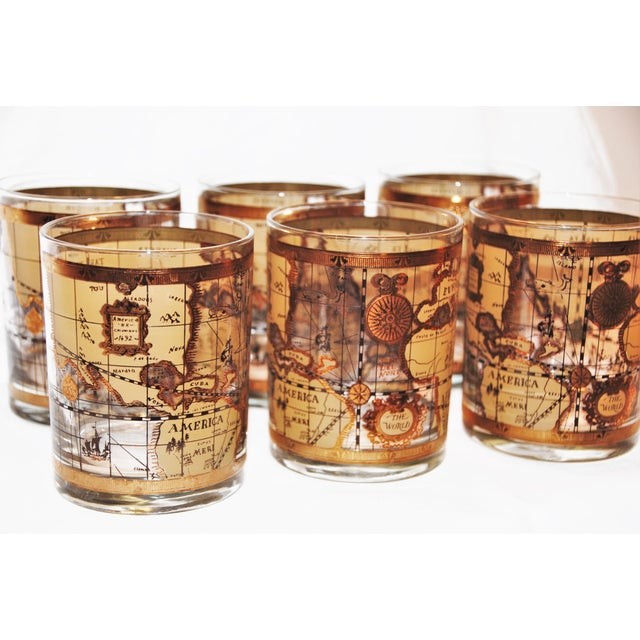 Vintage cera world map old fashioned glasses 6 chairish vintage cera world map old fashioned glasses 6 image 3 of 9 gumiabroncs Image collections