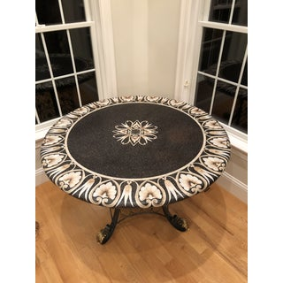 Decorative Maitland-Smith Round Dining Table With Iron and Bronze Base Preview
