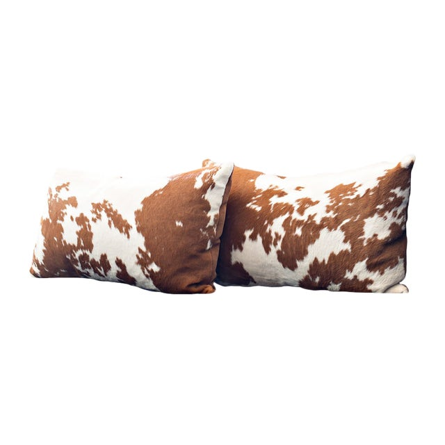 Calf Hide Hair Lumbar Pillows For Sale