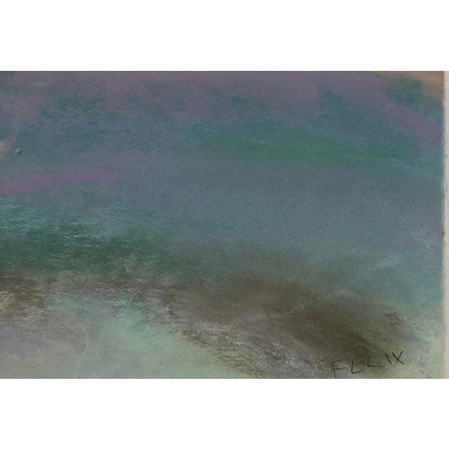 Contemporary Large Original Vintage Pastel Landscape Drawing Signed For Sale - Image 3 of 6
