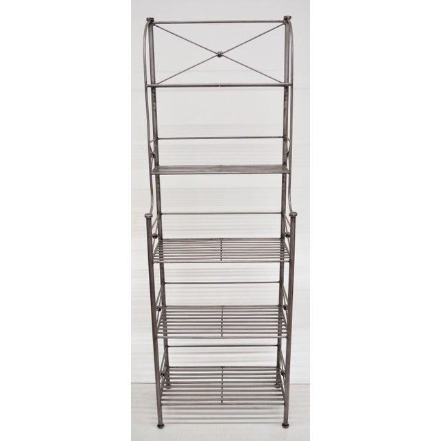 Item: Pier 1 Medici Collection Iron Shelf Details: Iron construction, distressed finish, tall stately form, very nice...