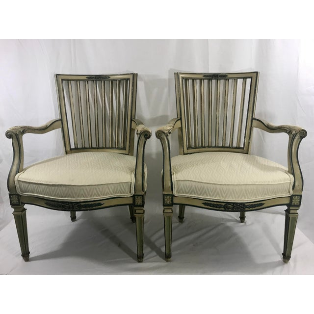 Classical Italian Dining Chairs Set of 4 For Sale - Image 11 of 12