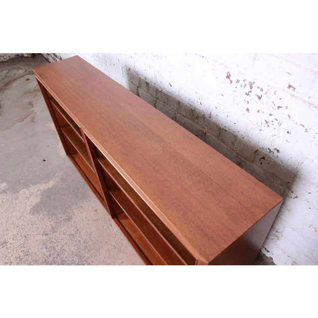 Edward Wormley for Dunbar Mahogany Double Bookcase For Sale In South Bend - Image 6 of 11