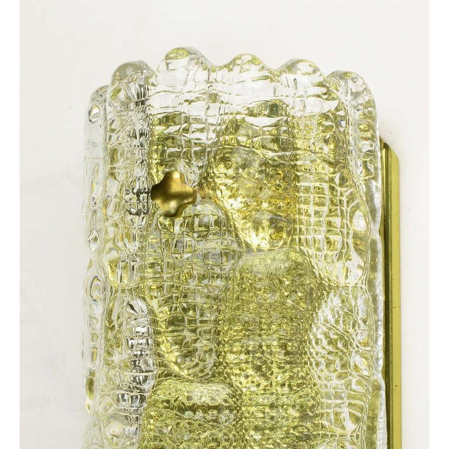 Pair Carl Fagerlund For Orrefors Glass & Brass Sconces - Image 7 of 10