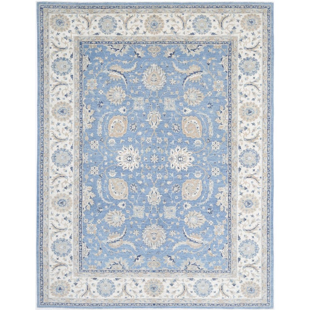 Cottage 21st Century Tabriz Hand-Knotted Rug - 9′1″ × 11′9″ For Sale - Image 3 of 3