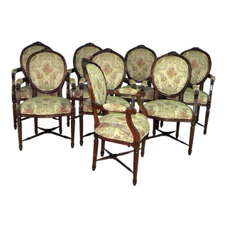 20th Century Louis XVI Style Dining Chairs - Set of 8