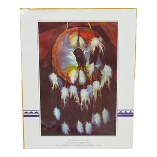 Vintage 1973 Native American Indian Dreamcatcher Print by Touraine