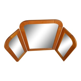 Folding Danish Teak Mirror by Nordisk Andels-Eksport