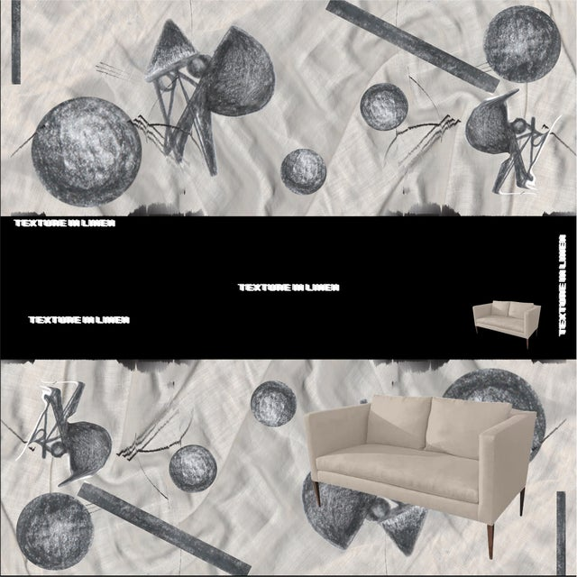 """Contemporary Custom to Order """"Some Like It Linen"""" Furniture Mineral Hues For Sale - Image 3 of 12"""