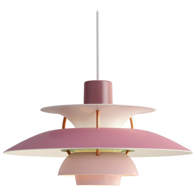 Louis Poulsen Poul Henningsen Rose PH5 Mini Pendant for Louis Poulsen For Sale - Image 4 of 4