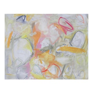 """Large Lyrical Abstract Oil Painting by Trixie Pitts """"Bunny Dreaming"""""""