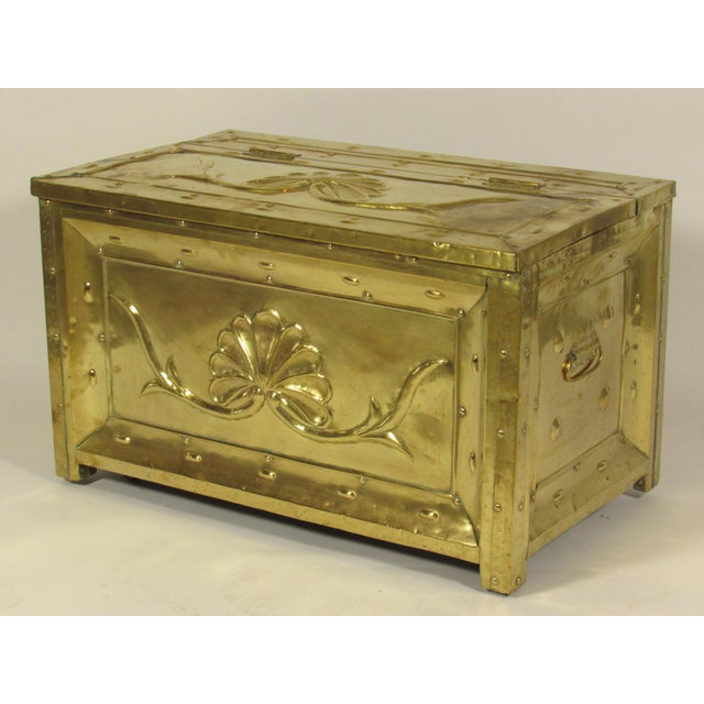 19th Century Swedish Brass Wood Box For Sale - Image 4 of 8
