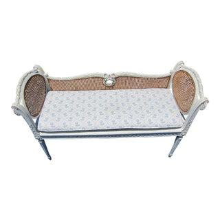 Vintage Mid Century Louis XVI Style Tabouret For Sale