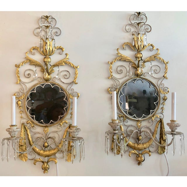 Large Pair Mid Century Italian Sconces For Sale - Image 13 of 13