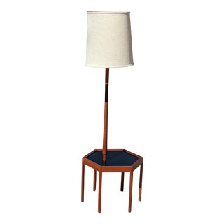 Teak Table Lamp Made in Denmark Hexigon Attributed to Hans Andersen For Sale