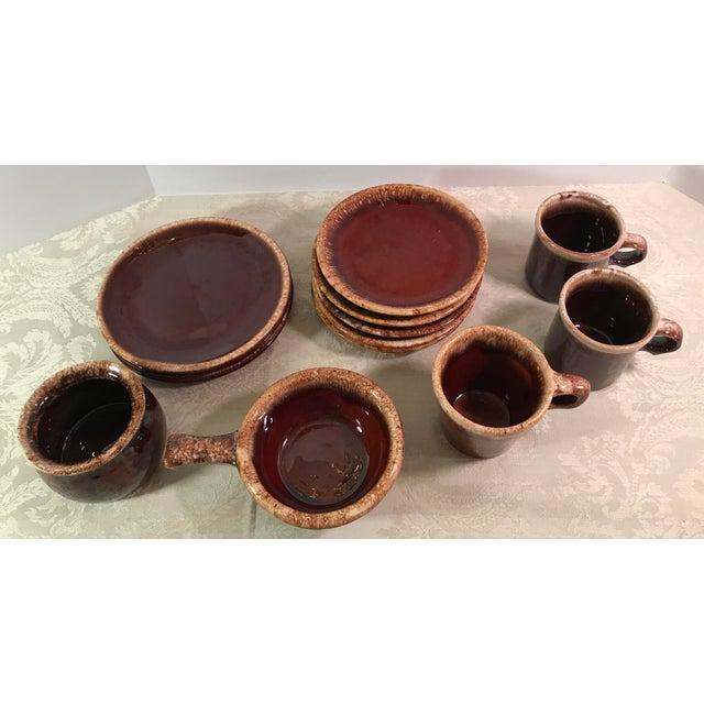 Hull & McCoy Drip Glaze Dishes - Set of 13 - Image 3 of 11