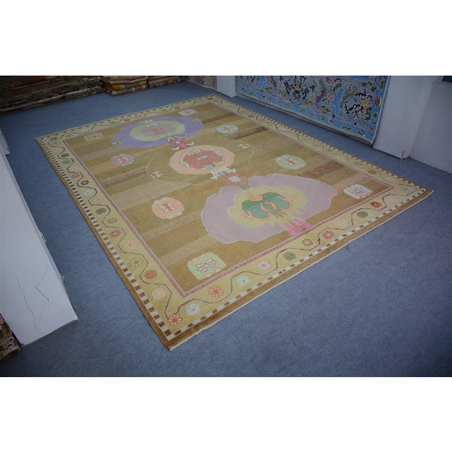 Oversized Hand Knotted Turkish Contemporary Wool Rug For Sale - Image 4 of 9