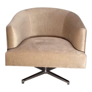 Abc Carpet & Home Upholstered Swivel Chair