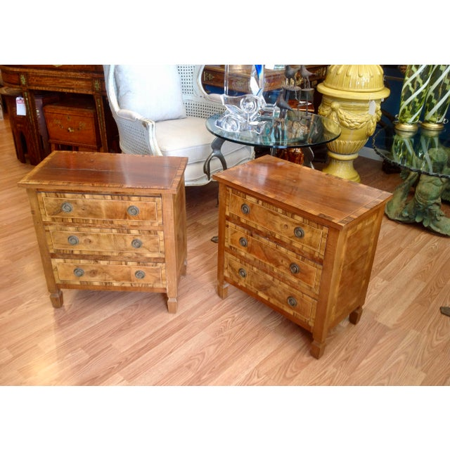 1950s Pair of Italian Chair Side Chests For Sale - Image 5 of 13