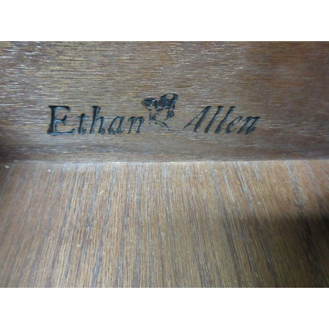 Ethan Allen Royal Charter Jacobean Carved Writing Office Desk - Image 8 of 8