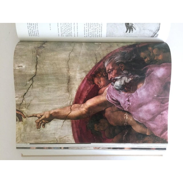 """Cardboard """"The Complete Work of Michelangelo """" Slip Case Box Monumental Xtra Large Collector Vintage 1965 1st Edtn Book For Sale - Image 7 of 11"""