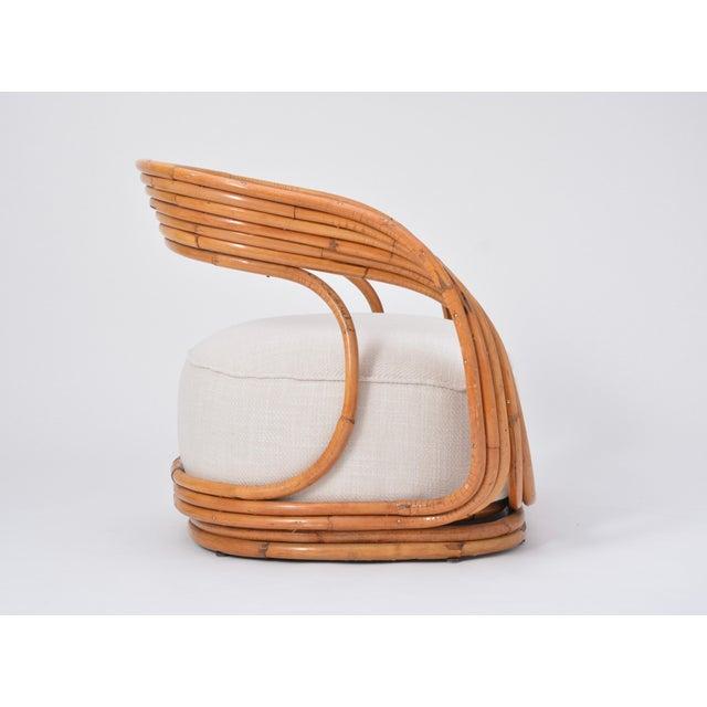 Rattan Eva Armchair Designed by Giovanni Travasa for Vittorio Bonacina For Sale - Image 7 of 12