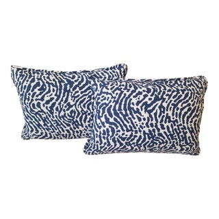 Thibaut Fabric Outdoor Pillows - a Pair For Sale