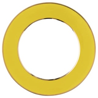 """Schubert"" Charger in Yellow & Narrow Gold Rim For Sale"