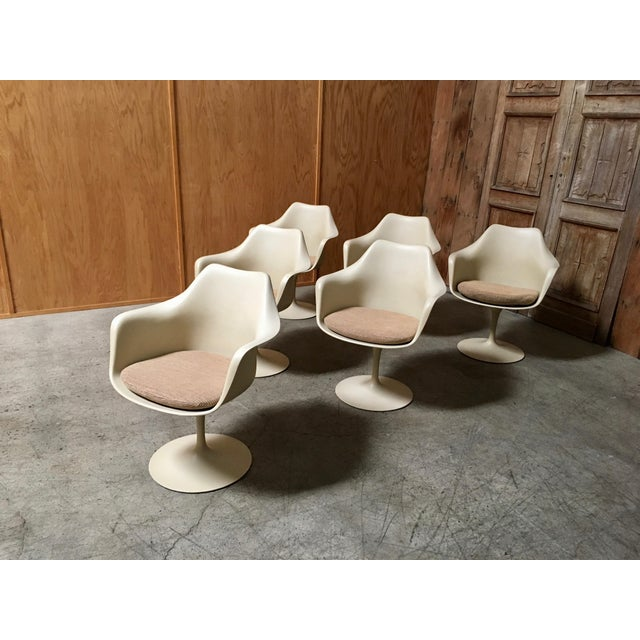 Mid-Century Modern Vintage Mid Century Eero Saarinen for Knoll Dining Chairs- Set of 6 For Sale - Image 3 of 12
