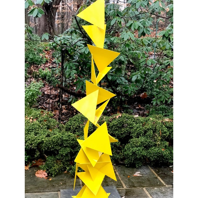 """Beautiful Mid Century Modern Outdoor/Indoor Triangle Sculpture named """"Trougao"""" -Free Standing Abstract modern powder..."""