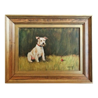 """Let's Play Ball"" Dog Painting For Sale"