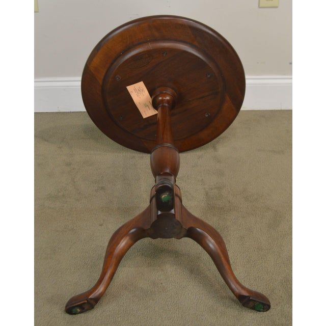 """Henkel Harris Traditional Mahogany 20"""" Round Pedestal Side Table For Sale - Image 10 of 13"""