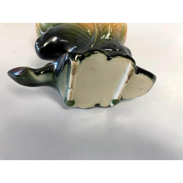 Vintage Floral Leaf Ceremic Vase For Sale - Image 4 of 6