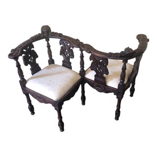 Vintage Italian Kissing Bench For Sale