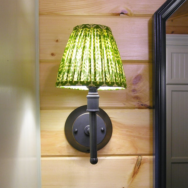 **Sold individually. Multiple shades can be purchased.** DETAILS: - New, handcrafted, pleated sconce or chandelier shade -...