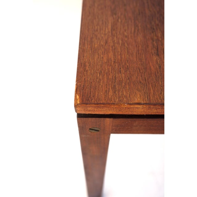 Mid-Century Hans Olsen Teak End Table || Made in Denmark || One of Two For Sale - Image 10 of 13