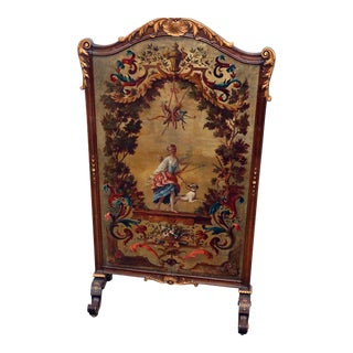 Regency Style Oil Painted Screen For Sale