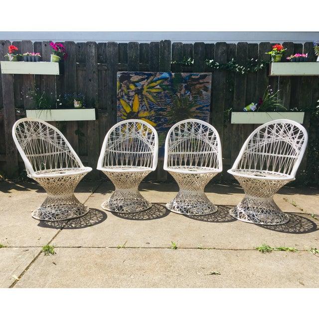 1960s Vintage Spun Fiberglass Patio Chairs- Set of 4 For Sale - Image 4 of 6