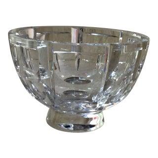 Vintage Orrefors Glass Bowl For Sale