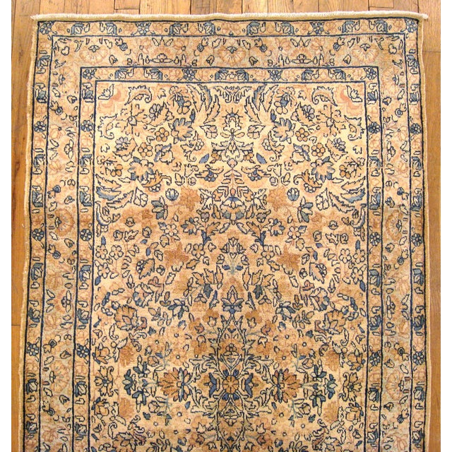 Early 20th Century Antique Persian Kerman Oriental Rug - 3′ × 5′3″ For Sale - Image 4 of 5