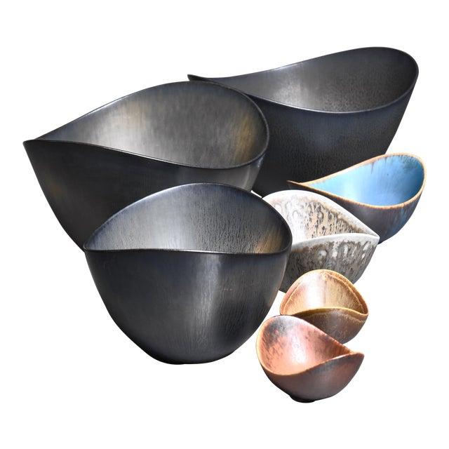 Set of 7 Gunnar Nylund Ceramic Bowls for Rörstrand, 1950s For Sale