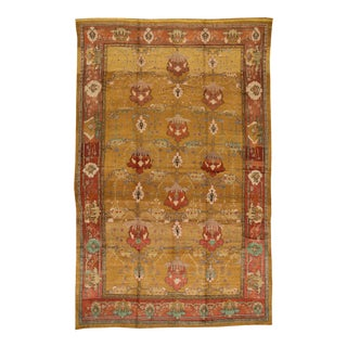 Vintage Donegal Arts & Crafts Style Wool Rug For Sale