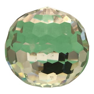 Transitional Style Cut Glass Decorative Ball For Sale