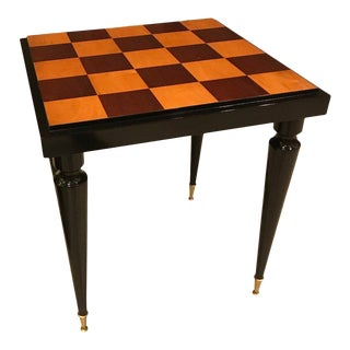 1940s French Art Deco Ebony Game Table or Centre Table For Sale