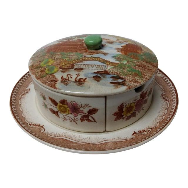 European Porcelain Coffee Service Bowl For Sale