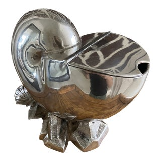 Late 19th Century English Silver Plated Nautilus Shell Spoon Warmer For Sale